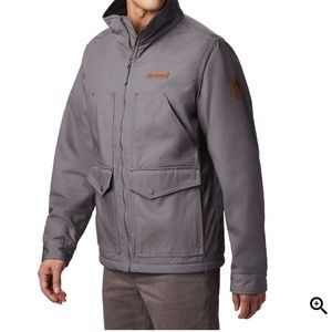 Columbia City Grey Loma Vista canvas fleece coat